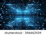 digital technology abstract... | Shutterstock . vector #346662434
