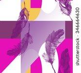Feathers On Geometric Pattern 7
