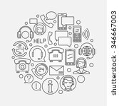 call or support center design... | Shutterstock .eps vector #346667003
