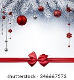 christmas background with red... | Shutterstock .eps vector #346667573