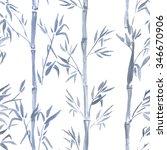 hand drawn watercolor seamless ... | Shutterstock . vector #346670906