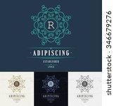 set luxury logos template... | Shutterstock .eps vector #346679276