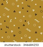 pattern with gold and black... | Shutterstock .eps vector #346684253