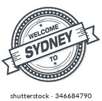 welcome to sydney stamp badge | Shutterstock .eps vector #346684790