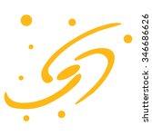 galaxy system raster icon.... | Shutterstock . vector #346686626