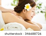 beautiful young woman enjoy spa ... | Shutterstock . vector #346688726