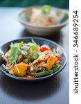 thai foods. stir fried grass... | Shutterstock . vector #346689254