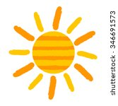 sun icon painting. vector... | Shutterstock .eps vector #346691573