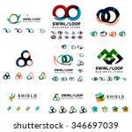 set of company logotype... | Shutterstock .eps vector #346697039