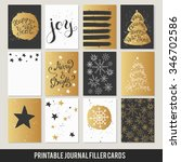 christmas printable set of... | Shutterstock .eps vector #346702586