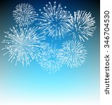 fireworks and happy new year... | Shutterstock .eps vector #346704530