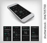 set of black mobile user...