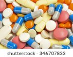 many colorful medicines.... | Shutterstock . vector #346707833