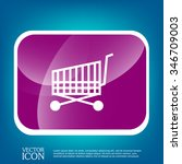 shopping cart icon. vextor... | Shutterstock .eps vector #346709003