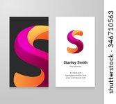 modern letter s twisted... | Shutterstock .eps vector #346710563