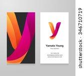 modern letter y twisted... | Shutterstock .eps vector #346710719