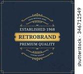 vector calligraphic logo...   Shutterstock .eps vector #346712549