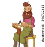 Illustration Of A Bearded...