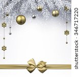 christmas background with... | Shutterstock .eps vector #346717220
