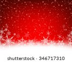 red winter card with snowflakes.... | Shutterstock .eps vector #346717310