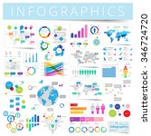 infographics with data icons ... | Shutterstock .eps vector #346724720