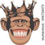 funny monkey crown | Shutterstock .eps vector #346726073