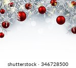christmas background with red... | Shutterstock .eps vector #346728500