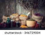 Healing Herbs In Hessian Bags ...