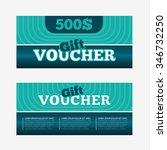 gift voucher template set. two... | Shutterstock .eps vector #346732250