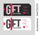 gift voucher template set. two...