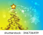 festive colorful christmas tree ... | Shutterstock .eps vector #346736459
