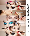 beauty collage. faces of women. ... | Shutterstock . vector #346742498