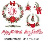 merry christmas and happy new... | Shutterstock .eps vector #346743410