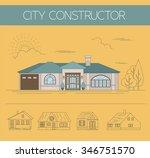 building exteriors graphic... | Shutterstock .eps vector #346751570