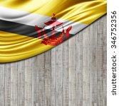 brunei flag  of silk with... | Shutterstock . vector #346752356
