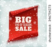 big end of season sale poster.... | Shutterstock .eps vector #346754273
