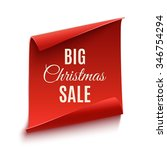 big christmas sale poster ... | Shutterstock .eps vector #346754294