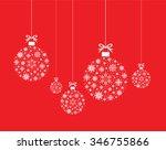 set of snowflake ball balls | Shutterstock .eps vector #346755866