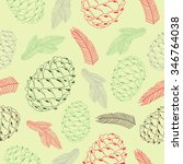 merry christmas pattern with... | Shutterstock .eps vector #346764038