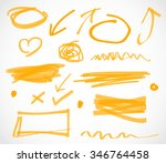 marker highlighter elements | Shutterstock .eps vector #346764458