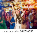 people  holidays and nightlife... | Shutterstock . vector #346766858