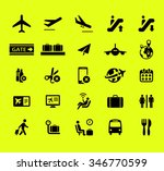 airport icon vector set | Shutterstock .eps vector #346770599