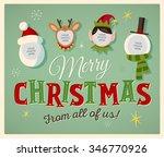 family spirit christmas card.... | Shutterstock .eps vector #346770926