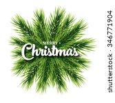 merry christmas lettering card... | Shutterstock .eps vector #346771904