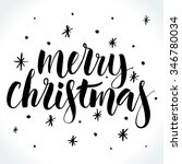 merry christmas background with ... | Shutterstock .eps vector #346780034