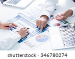 business people discussing the... | Shutterstock . vector #346780274