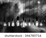 edison style light bulbs... | Shutterstock . vector #346785716