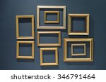 golden classic picture frames... | Shutterstock . vector #346791464