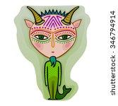 colorful cute original zodiac... | Shutterstock .eps vector #346794914