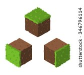 cartoon isometric grass and...